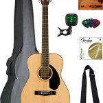 Fender Concert Acoustic Guitar - Natural Bundle with Gig Bag, Tuner, Strap