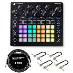 Novation Circuit Groovebox with Sample Import Bundle with 4 MXR Patch Cables