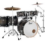 Pearl Drum Set, Satin Black Burst, inch