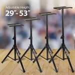PAIR of Studio Monitor Speaker Stands by Hola! Music, Professional Heavy-Duty Tripod Structure, Adjustable Height, Model HPS-600MS 2