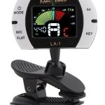 Real Tuner – Chromatic Clip-on Tuner for Guitar, Bass, Violin, Ukulele, Banjo, Brass and Woodwind Instruments – Bright Full Color Display – Extra Mic Function – A4 Pitch Calibration – Transposition