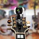 Real Tuner – Chromatic Clip-on Tuner for Guitar, Bass, Violin, Ukulele, Banjo, Brass and Woodwind Instruments – Bright Full Color Display – Extra Mic Function – A4 Pitch Calibration – Transposition 1