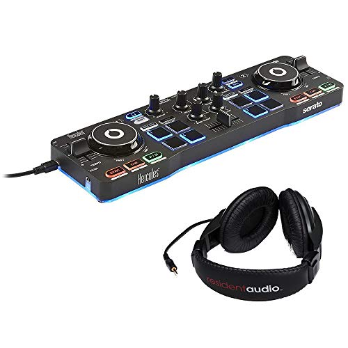 Hercules DJControl Starlight with LED Light & Resident Audio Stereo Headphones