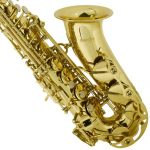 Mendini by Cecilio MAS-L+92D+PB Gold Lacquer E Flat Alto Saxophone with Tuner, Case, Mouthpiece, 10 Reeds and More 3