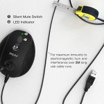 Computer Microphone,Fifine Desktop Gooseneck Microphone,Mute Button with LED Indicator,USB Microphone for Windows and Mac Ideal for Gaming Streaming YouTube Podcast-K052 2