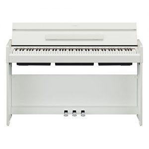 Yamaha Arius Series Slim Digital Console Piano, White Walnut