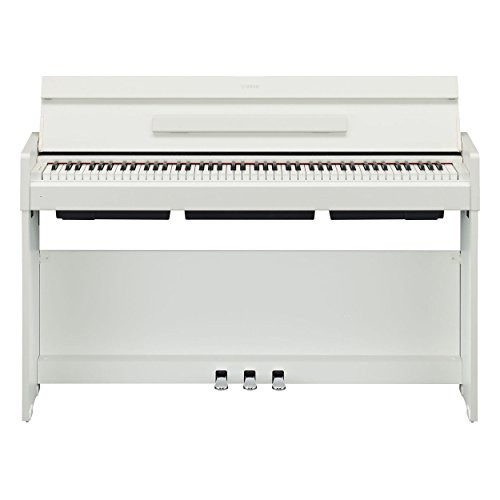 Yamaha Arius Series Slim Digital Console Piano, White Walnut