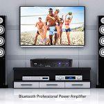 Professional Audio Bluetooth Power Amplifier – 2-Channel Rack Mount Bridgeable, LED Indicators, Shockproof Binding Posts, Cooling Fans 1000 Watt – Pyle Pro PTA1000 3