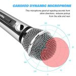 Ankuka Wired Dynamic Karaoke Microphones, Professional Handheld Vocal Mic with 13ft 6.35mm XLR Audio Cable Compatible with Karaoke Machine/Speaker/Amp/Mixer for Singing, Speech, Wedding, Stage 3
