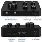 Portable Karaoke Microphone Mixer System Set, with Dual UHF Wireless Mic, HDMI & AUX In/Out for Karaoke, Home Theater, Amplifier, Speaker 3