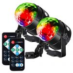 Litake Party Lights Disco Ball Strobe Light Disco Lights, 7 Colors Sound Activated