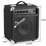 Donner 15W Bass Guitar Amplifier DBA-1 Electric Practice Bass Combo AMP with cable 2