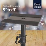 PAIR of Studio Monitor Speaker Stands by Hola! Music, Professional Heavy-Duty Tripod Structure, Adjustable Height, Model HPS-600MS 3
