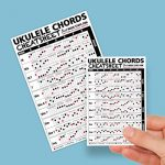 Small + Large Ukulele Chords Cheatsheet Bundle - Laminated and Double Sided