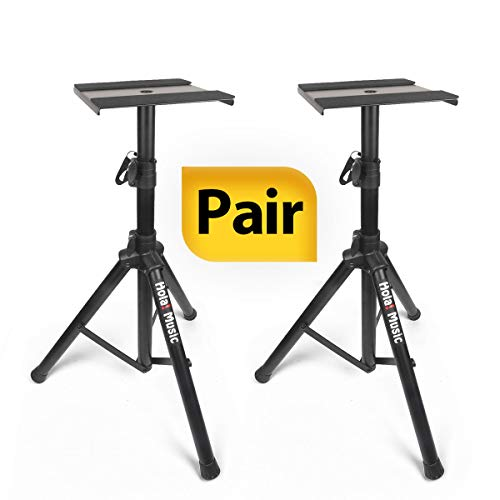 PAIR of Studio Monitor Speaker Stands by Hola! Music, Professional Heavy-Duty