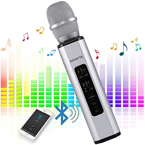 MCHATTE Bluetooth Karaoke Microphone, Wireless Portable Handheld Karaoke