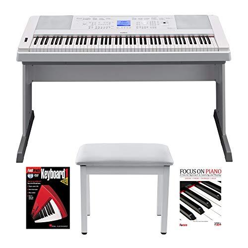 Yamaha 88 Key Digital Piano with Knox Piano Bench and Book/DVD