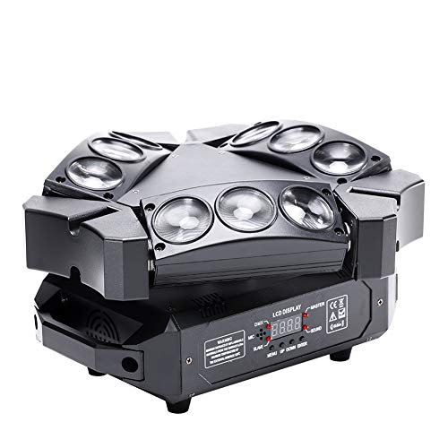 Spider Moving Head Light, U`King 9 Leds Heads X 10W RGB Stage Lighting Effect