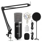 TONOR XLR Condenser Microphone Kit with XLR to XLR Cable/3.5mm