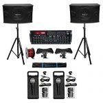 Rockville Karaoke Machine System w/Pair 10″ Speakers+Bluetooth Mixer Amp+Mics