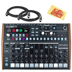 Arturia DrumBrute Analog Drum Synthesizer Bundle with MIDI Cable and Austin