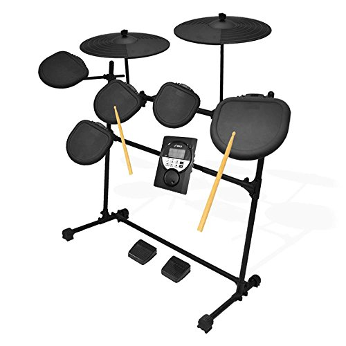 Pyle Pro 9 Piece Electronic Set-Electric Kit with 5 Drum Heads, 2 Cymbal Crash Pads