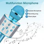 Gifts for 4 5 6 7 8 9 10 Year Old Kids, Touber Wireless Portable Handheld Karaoke Microphone Bluetooth Toys for 4-12 Year Old Girls Boys Family Birthday Party Gift Toy Age 4-12 Girl Boy 1
