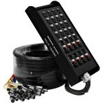 Seismic Audio – SALS-16x8x50 – 16 Channel 50′ Pro Stage XLR Snake Cable (XLR & 1/4″ TRS Returns) for Recording, Stage, Studio use