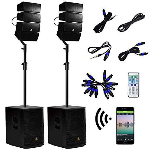 AKUSTIK 12 Inch 4000Watt Powered PA Speaker System Combo Set