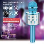 Gifts for 4 5 6 7 8 9 10 Year Old Kids, Touber Wireless Portable Handheld Karaoke Microphone Bluetooth Toys for 4-12 Year Old Girls Boys Family Birthday Party Gift Toy Age 4-12 Girl Boy 3