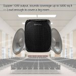 Portable Voice Amplifier SHIDU S258 10W Ultralight Rechargeable Mini Pa Speaker Supports MP3/TF/USB Professional Headset Microphone for Teachers Fitness Instructors and More 1