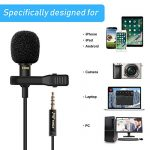 PoP Voice 12.8 Feet Lavalier Lapel Microphone Professional Grade Omnidirectional Mic Condenser Small Mini Perfect for Recording Podcast PC Laptop Android iPhone YouTube Interview ASMR External 2
