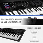 M-Audio Axiom AIR Mini 32 USB MIDI Keyboard with Marantz Pod Pack 1 USB Microphone Kit and PreSonus Eris E3.5 Studio Monitors Bundle 1