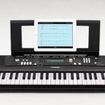 Yamaha EZ220 Keyboard with Lighted Keys – Includes X-Style Stand and Power Adapter 2