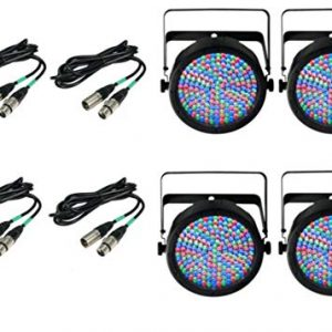 4) Chauvet DJ SlimPar 64 LED Slim Par Can Pro RGB Lighting Effects