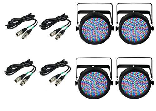 4) Chauvet DJ SlimPar 64 LED Slim Par Can Pro RGB Lighting Effects
