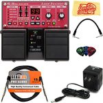 Boss RC-30 Loop Station Bundle with Power Supply, Instrument Cable, Patch Cable, Picks, and Austin Bazaar Polishing Cloth