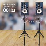 PAIR of Studio Monitor Speaker Stands by Hola! Music, Professional Heavy-Duty Tripod Structure, Adjustable Height, Model HPS-600MS 1