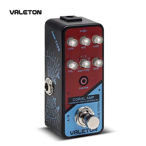 Valeton Coral Amp Modeling Preamp Digital Amplifier Modeler Guitar Effects Pedal