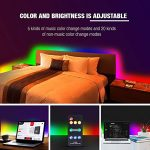 Dream Color LED Strip Lights Sync to Music, 16.4ft RGB 5050SMD Waterproof Flexible String Light – Built-in IC, 150LEDs Chase Effect Rope Lighting with RF Remote, 12V Power Supply 1