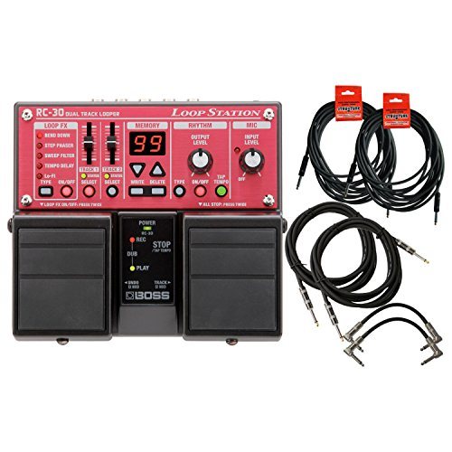 BOSS Guitar Pedal Loop Station w/6 FREE Cables