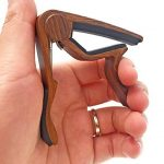 WINGO Quick Change Wooden Guitar Capo for Acoustic Guitar, Electric Guitar,Bass,Ukulele- Rosewood with Personalized Metal Pick Necklace. 2