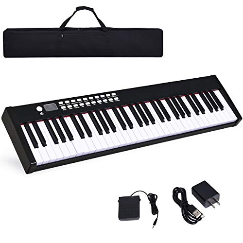 Costzon BX-II 61-Key Portable Touch Sensitive Digital Piano, Electric Keyboard