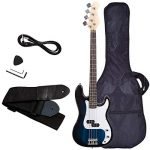 Electric Bass Guitar, Safeplus Starters Acoustic Guitar Full Size 4 String Package