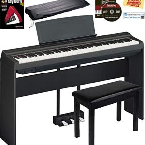 Yamaha P-125 Digital Piano - Black Bundle with Yamaha L-125 Stand