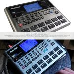 Alesis SR18 18 Bit Portable Drum Machine with Effects and Accessory Bundle w/Cables + Fibertique Cloth + Mic Windscreen 1