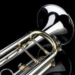 Glory Brass Bb Trumpet with Pro Case +Care Kit,Nickel Plated Intermediate Double-Braced Bb Trumpet, More COLORS Available ! CLICK on LISTING to SEE All Colors 3