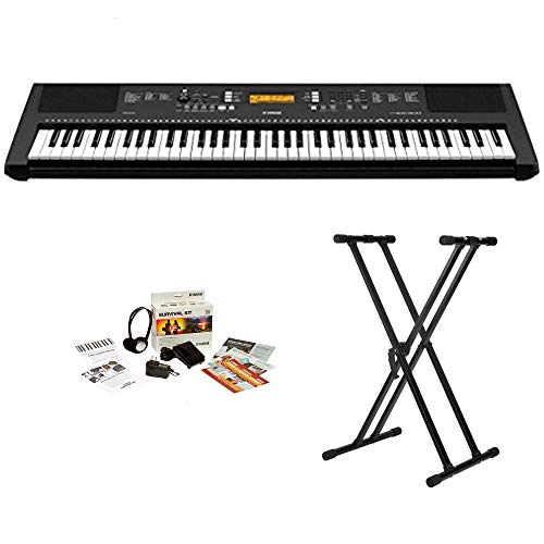Yamaha 76 Key Portable Keyboard With Knox Adjustable Stand & Power Adapter