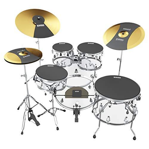 Evans Practice Pad, Rock Box Set w/Cymbal & Bass