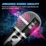 Ankuka Wired Dynamic Karaoke Microphones, Professional Handheld Vocal Mic with 13ft 6.35mm XLR Audio Cable Compatible with Karaoke Machine/Speaker/Amp/Mixer for Singing, Speech, Wedding, Stage 1